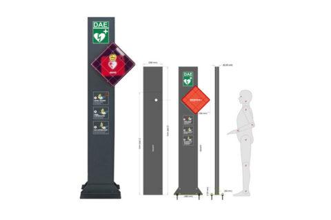 Totem Defibrillatore Semiautomatico Philips Cagliari